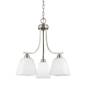 Parkfield Brushed Nickel Energy Star Three-Light LED Chandelier
