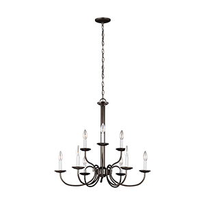 Holman Heirloom Bronze 28-Inch Nine-Light Chandelier