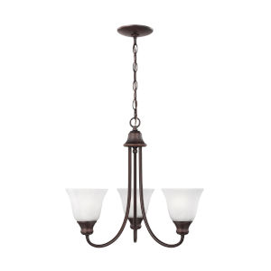 Windgate Bronze Three-Light Chandelier without Bulbs