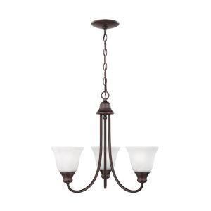 Windgate Bronze Three-Light Chandelier with LED Bulbs