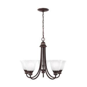 Windgate Bronze Five-Light Chandelier with LED Bulbs