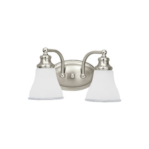 Alexandria Two Tone Nickel Energy Star Two-Light LED Bath Vanity
