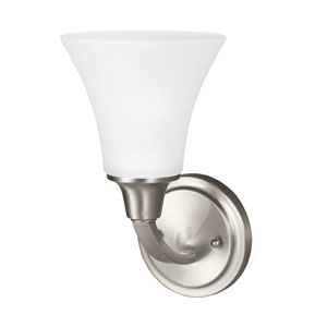 Metcalf Brushed Nickel Energy Star LED Bath Sconce