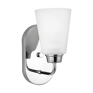 Kerrville Chrome Energy Star Five-Inch One-Light Bath Sconce