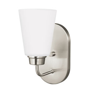Kerrville Brushed Nickel Energy Star LED Bath Sconce