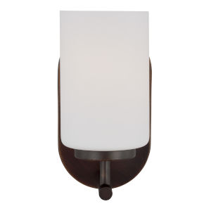 Oslo Burnt Sienna One-Light Bath Vanity with Cased Opal Etched Shade Energy Star