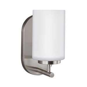 Oslo Brushed Nickel Energy Star LED Bath Sconce