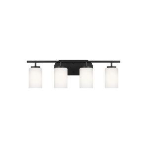 Oslo Midnight Black Four-Light Bath Vanity with LED Bulbs
