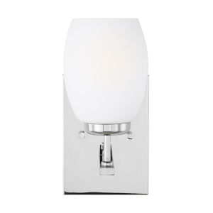 Catlin Chrome One-Light Bath Vanity with Etched White Inside Shade
