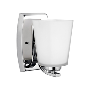 Waseca Chrome Energy Star Five-Inch One-Light Bath Sconce