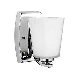 Waseca Chrome Energy Star Five-Inch One-Light Bath Sconce