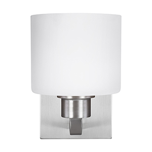 Canfield Brushed Nickel Energy Star Six-Inch One-Light Bath Sconce