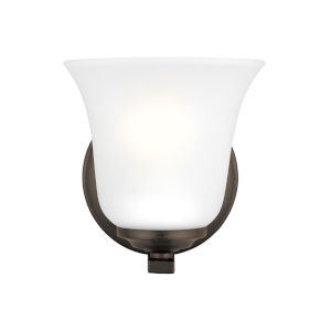 Emmons Bronze One-Light Bath Vanity without Bulb