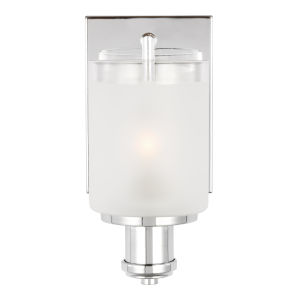 Norwood Chrome One-Light Bath Vanity with Clear Highlighted Satin Etched Shade Energy Star