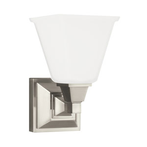 Denhelm Brushed Nickel Energy Star LED Bath Sconce