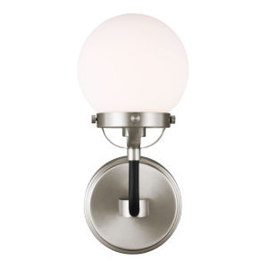 Cafe Brushed Nickel One-Light Bath Vanity