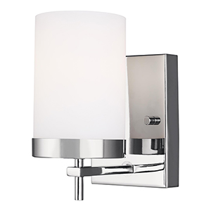 Zire Chrome One-Light Wall Sconce