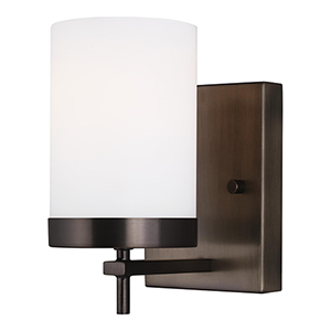 Zire Brushed Oil Rubbed Bronze One-Light Wall Sconce