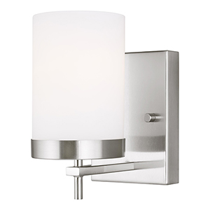 Zire Brushed Nickel One-Light Energy Star Wall Sconce