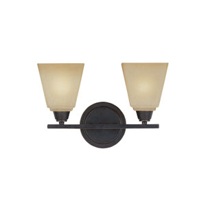 Parkfield Flemish Bronze Energy Star Two-Light LED Bath Vanity