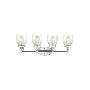 Belton Chrome Four-Light Bath Vanity