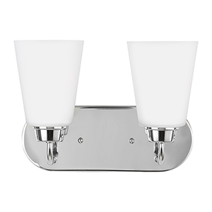 Kerrville Chrome 12-Inch Two-Light Bath Vanity