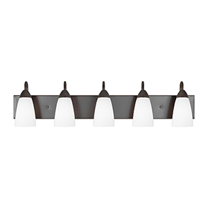 Seville Burnt Sienna 36-Inch Five-Light Bath Vanity