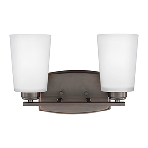 Franport Burnt Sienna 13-Inch Two-Light Bath Vanity