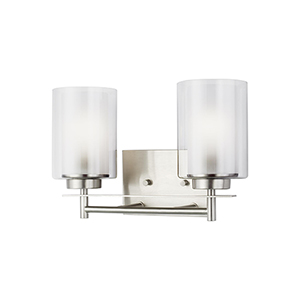 Elmwood Park Brushed Nickel Two-Light Wall Sconce