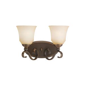 Parkview Russet Bronze Energy Star Two-Light LED Bath Vanity