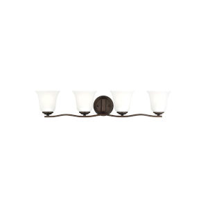 Emmons Bronze Four-Light Bath Vanity without Bulbs