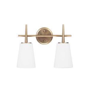 Driscoll Satin Brass Energy Star Two-Light LED Bath Vanity