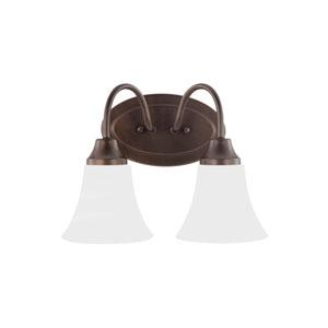 Holman Bell Metal Bronze Energy Star Two-Light LED Bath Vanity