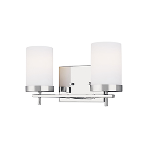 Zire Chrome Two-Light Wall Sconce