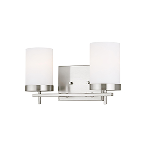 Zire Brushed Nickel Two-Light Wall Sconce