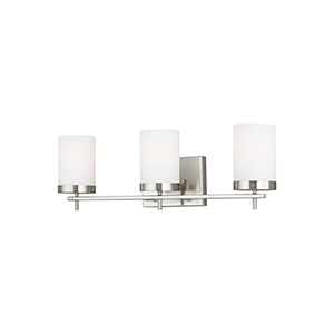 Zire Brushed Nickel Three-Light Wall Sconce