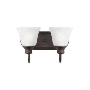 Windgate Bronze Two-Light Bath Vanity without Bulbs