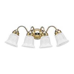 Brookchester Polished Brass 24-Inch Four-Light Bath Vanity