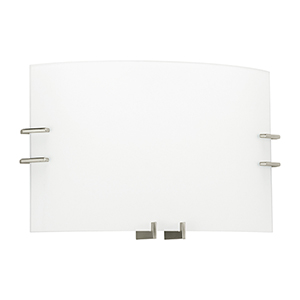 ADA Wall Sconces Brushed Nickel 15-Inch Two-Light Bath Vanity