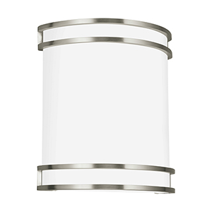 ADA Wall Sconces Brushed Nickel 10-Inch LED Bath Sconce