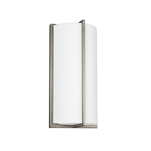 ADA Wall Sconces Brushed Nickel Six-Inch LED Bath Sconce