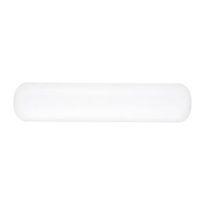 Pillow Lens White Plastic 26-Inch Three-Light Bath Bar