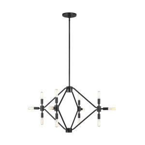 Wyn Midnight Black 12-Light Chandelier