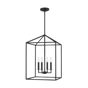 Perryton Midnight Black Four-Light Pendant without Bulbs