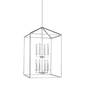 Perryton Chrome Eight-Light Lantern Pendant