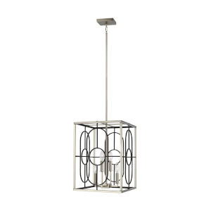 Rennie Brushed Nickel Four-Light Small Pendant