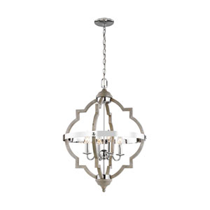 Socorro Washed Pine Four-Light Pendant Energy Star/Title 24