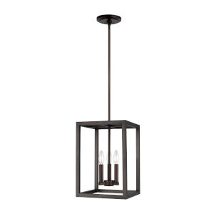 Moffet Street Burnt Sienna Three-Light Pendant Energy Star