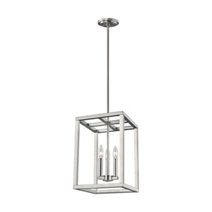 Moffet Street Brushed Nickel Three-Light Pendant Energy Star/Title 24