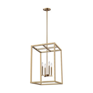 Moffet Street Satin Brass Four-Light Pendant Title 24